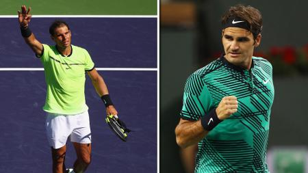 Roger Federer akan berhadapan dengan Rafael Nadal. - INDOSPORT