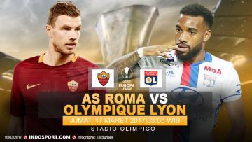 Prediksi AS Roma vs Olympique Lyon.
