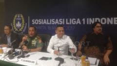 Indosport - Manager Meeting dan Preskon Liga 1 Indonesia.