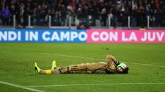 Indosport - Donnarumma kecewa setelah Juventus membobol gawangnya.