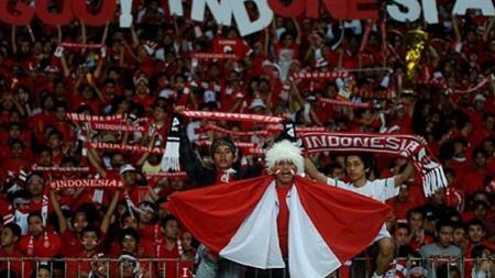 Ilustrasi suporter Timnas Indonesia. - INDOSPORT