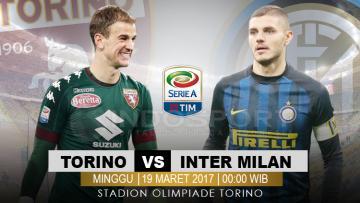 Susunan pemain Torino vs Inter Milan.