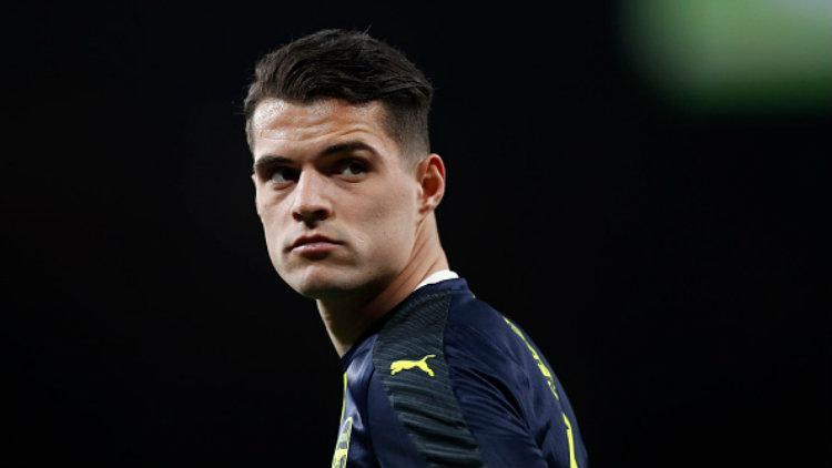 Gelandang Arsenal, Granit Xhaka. Copyright: Boris Streubel/Getty Images