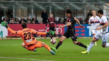 Mati Fernandez berhasil merobek gawang Genoa di menit ke-33.