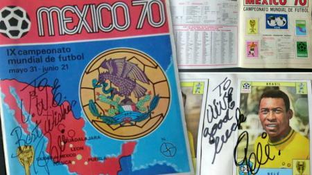 Buku kartu stiker pesepakbola Piala Dunia 1970 di Meksiko. - INDOSPORT