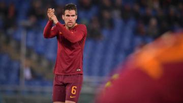 Gelandang AS Roma, Kevin Strootman.