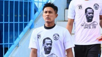 Kapten tim Arema FC, Johan Ahmad Alfarizi.