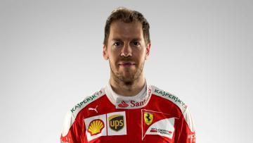 Pembalap Ferrari, Sebastian Vettel.
