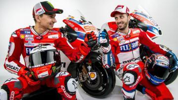 Pembalap Ducati, Jorge Lorenzo dan Andrea Dovizioso.