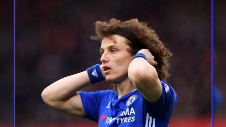 Bek tengah Chelsea dan Brasil, David Luiz. - INDOSPORT