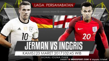 Prediksi Jerman vs Inggris. - INDOSPORT