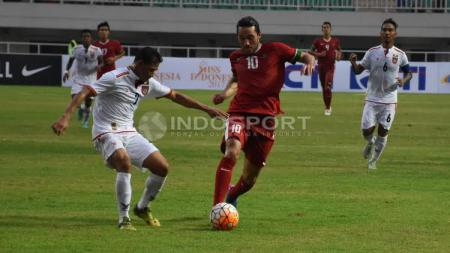 Indonesia vs Myanmar. - INDOSPORT