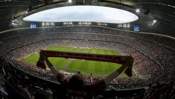 Tampak dalam Allianz Arena Stadium.