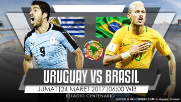 Prediksi Uruguay vs Brasil.