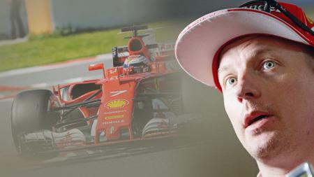 Kimi Raikkonen pembalap Ferrari Formula 1. - INDOSPORT