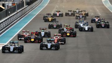 Pemandangan balapan F1 pada musim lalu.