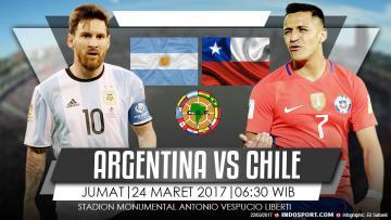 Prediksi Argentina vs Chile.