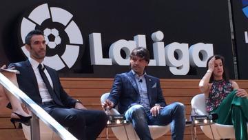 Morientes, Sanz, dan Marin ramaikan acara peresmian kantor La Liga di Singapura.