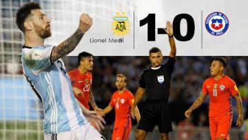 Lionel Messi berhasil memenangkan pertandingan Argentina melawan Chile pada Kualifikasi Piala Dunia 2018.
