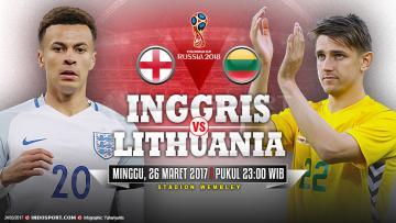 Prediksi Inggris vs Lithuania.