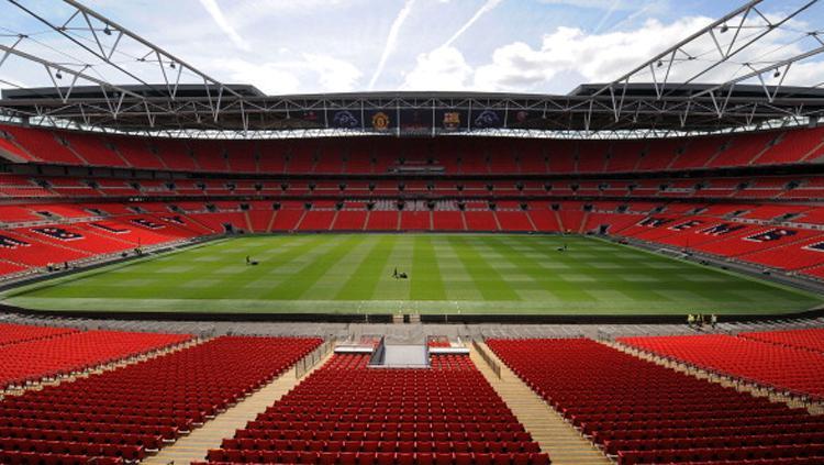 Wembley adalah stadion milik Inggris. Copyright: UEFA via Getty Images