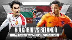 Indosport - Prediksi Bulgaria vs Belanda.