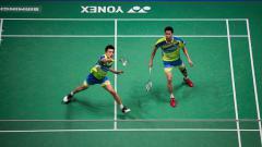 Indosport - Ganda putra Malaysia, Goh V Shem/Tan Wee Kiong, tantang Kevin Sanjaya/Marcus Gideon di China Open 2019. Nathan Stirk/Getty Images.