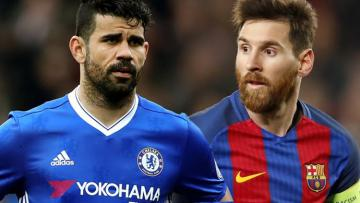 Diego Costa dan Lionel Messi.
