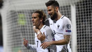 Antoine Griezmann dan Olivier Giroud menjadi pahlawan kemenangan Prancis atas Luksemburg di laga internasional.