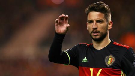 Bintang Belgia, Dries Mertens dalam laga melawan Yunani di kualifikasi Piala Dunia 2018 zona Eropa Grup H. - INDOSPORT