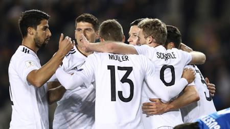 Jerman ungguli Azerbaijan 3-1 di babak pertama. - INDOSPORT