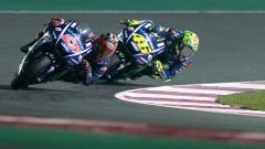 Indosport - Maverick Vinales depan disusul oleh rekan setimnya Valentino Rossi.