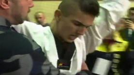 Ekspresi Kerim Ahmetspahic setelah berhasil memecahkan rekor.