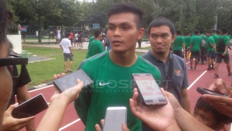 Rachmat Irianto, penggawa baru Timnas U-19 anak dari legenda Persebaya, Bejo Sugiantoro. Copyright: Muhammad Adi Yaksa/Indosport