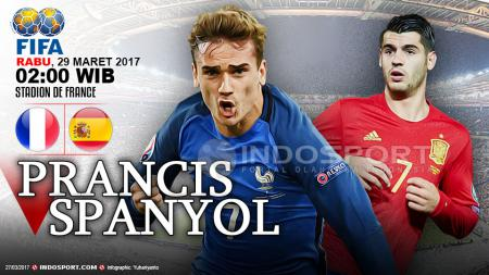 Prancis vs Spanyol - INDOSPORT