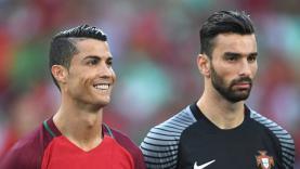 Rui Patrico dan Cristiano Ronaldo di skuat Portugal.
