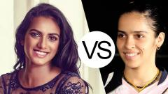 Indosport - PV Sindhu dan Saina Nehwal.