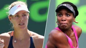 Angelique Kerber vs Venus Williams.