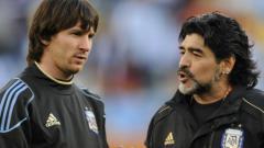Indosport - Lionel Messi digadang-gadang akan mengikuti jejak Diego Maradona yakni berjaya setelah keluar dari Barcelona.