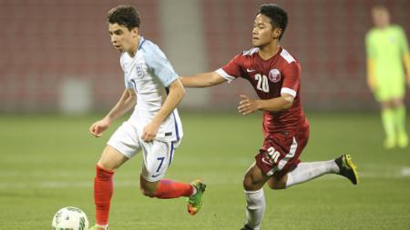 Pesepakbola Indonesia, Andri Syahputra mendapat pujian dari FA ketika membela Timnas Qatar U-18. - INDOSPORT