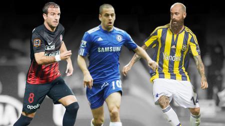 Kiri-kanan: Rafael van der Vaart, Joe Cole dan Raul Meireles. - INDOSPORT