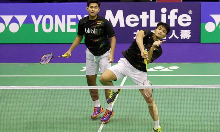 Ganda putra Indonesia, Angga Pratama/Ricky Karanda Suwardi. Copyright: PBSI
