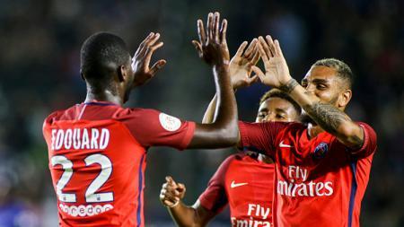 Eks striker PSG, Odsonne Edouard, yang tengah jadi incaran AS Roma, Lazio, Napoli, Borussia Dortmund. RINGO CHIU/AFP/Getty Images. - INDOSPORT