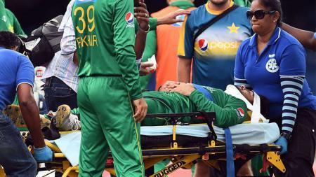 Seorang pemain Timnas Kriket Pakistan mengalami cedera parah saat pertandingan berlangsung. - INDOSPORT