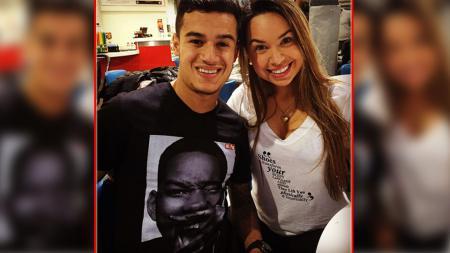 Philippe Coutinho dan istrinya, Aine Coutinho. - INDOSPORT