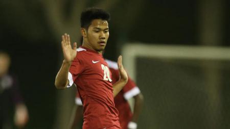 Pesepakbola muda Indonesia di Qatar, Andri Syahputra. - INDOSPORT
