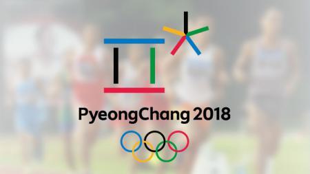 Logo Olimpiade Musim Dingin 2018 di  Pyeongchang, Korea Selatan. - INDOSPORT