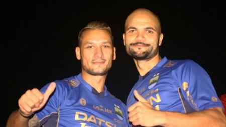 Raphael Maitimo dan Sergio van Dijk - INDOSPORT