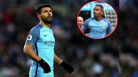 Bintang Manchester City, Gabriel Jesus, mengungkapkan dirinya bersyukur menjadi pelapis Sergio Aguero - INDOSPORT