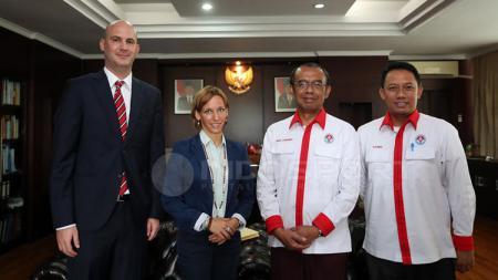 Sesmenpora menerima Duta Besar Hungaria untuk Jakarta, H.E. Judit Nemeth-Pach. - INDOSPORT